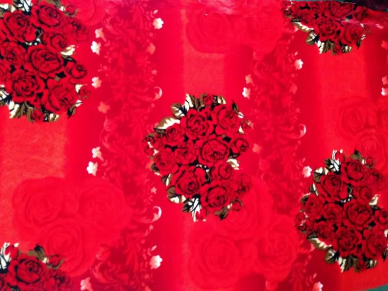 Coral fleece fabric with printed high quality