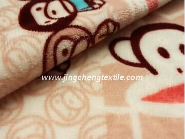 2015 flannel fleece fabric with printed design high quality,150D/288