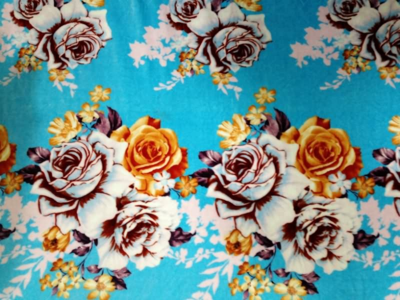 Flannel fleece fabric with printed high quality